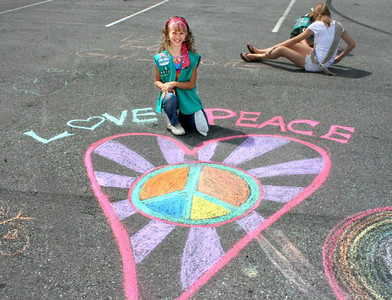 CHALK4PEACE Girl Scout Troop 40726 Martinsburg, WV