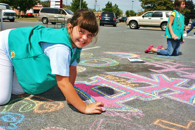 CHALK4PEACE 9/19/10 Girl Scout Troop 40726 event at Martinsburg Mall, Martinsburg, WV Organization and photos by Heather Riker Johnson