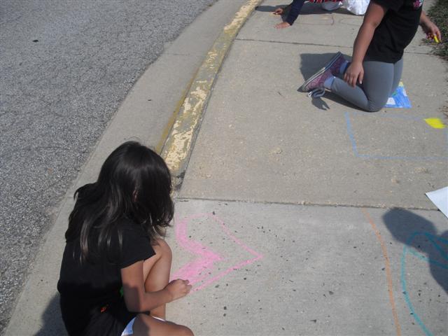 CHALK4PEACE 2010 Groveton Elementary School, Alexandria, VA 9/24/10 Photo: Kelly M. Still