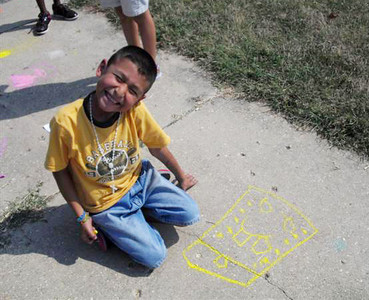CHALK4PEACE 2010 Groveton Elementary School, Alexandria, VA 9/24/10 Photo: Kelly M. Still