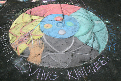 CHALK4PEACE 2010 9/17/10 Northern Light School, Oakland, CA photo: Jonothan Dumas