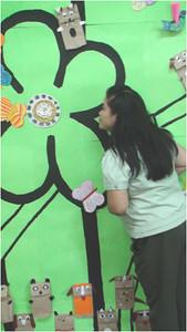 Ms. Bautista, the Organizer of CHALK4PEACE/WALK 4 PEACE '10 -2/17/10 Miriam College Grade School, Quezon City, Philippines  Organized by Ms. Patti Bautista, Art Area Supervisor (OIC) photo: Mr. Ed Talaro