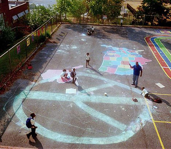 CHALK4PEACE 2010 JC Nalle Elementary School DC in Marshall Heights, Washington DC Organizer: Mary Freedman