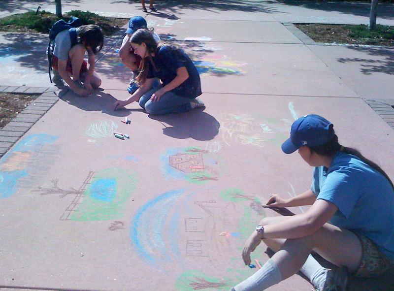 CHALK4PEACE 2011 9/11/11 Boulder Public Library photo: Carol Heepke