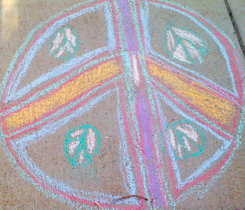 CHALK4PEACE 2011 9/11/11 Boulder Public Library photo: Carol Heepke