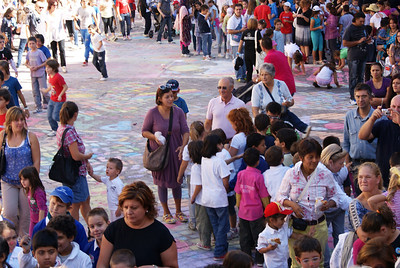 CHALK4PEACE at the Clown & Clown Festival, Monte San Giusto, Italy photo: Luciano Bramdimarti 01/10/11