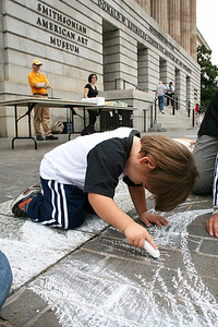 CHALK4PEACE 2011 Smithsonian American Art Museum and National Portrait Gallery Washington, DC photo: Marielle Mariano