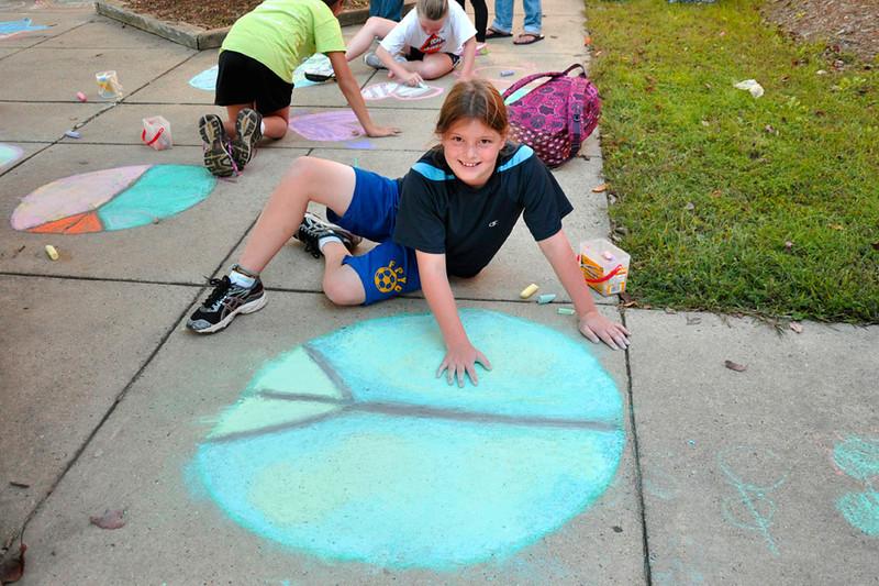 CHALK4PEACE 2011 10/5/11 Waples Mill Elementary School, Oakton, VA photo: Marilyn Miyamoto
