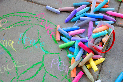 CHALK4PEACE 2011 10/5/11 Waples Mill Elementary School, Oakton, VA photo: Marilyn Miyamoto