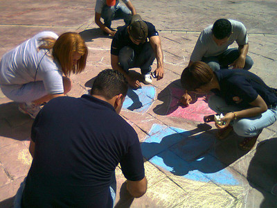 CHALK 4 PEACE 2011 Tizas Por La Paz 16 Oct. Rotaract de Villa Tapia, Dominican Republic photo: