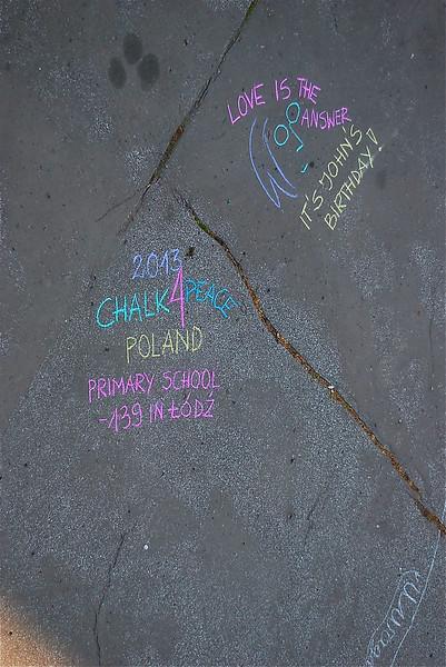 CHALK4PEACE '13 Łódź , Poland