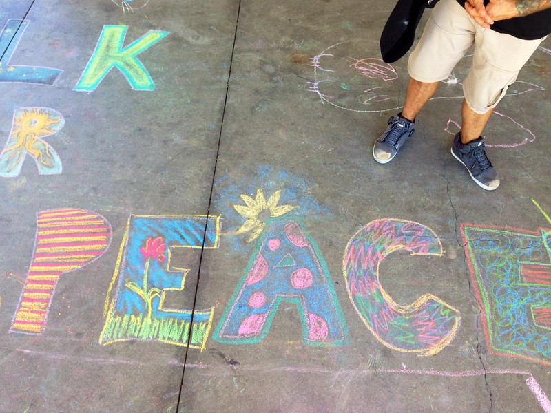 CHALK4PEACE 2013 Children's Discovery Museum of San Jose 9/14/13  photo: Heidi Lubin or John Aaron