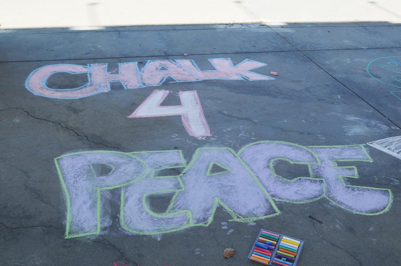 CHALK4PEACE 2013 Children's Discovery Museum of San Jose 9/14/13 Photo: Heidi Lubin