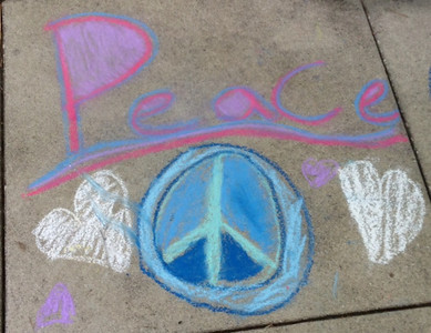 CHALK4PEACE 9/14/13  Gooden School Sierra Madre, CA photo: Sharon Hall