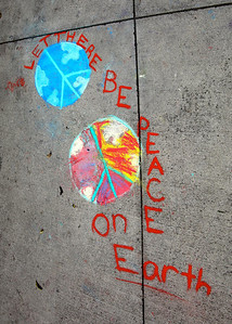 CHALK4PEACE 9/14/13  Gooden School Sierra Madre, CA photo: Meghan Snyder
