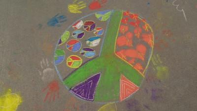 CHALK4PEACE 9/14/13  Gooden School Sierra Madre, CA