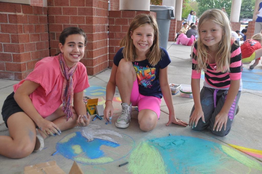 CHALK4PEACE 2013 Waples Mill Elementary School 