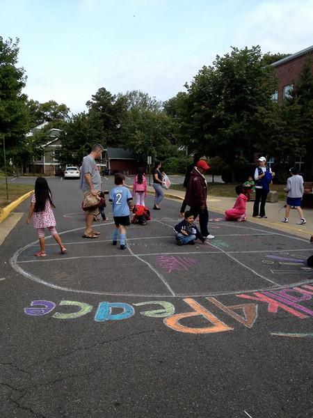 CHALK4PEACE Barcroft Elementary School 9/21/13