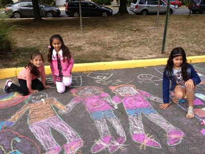CHALK4PEACE Barcroft Elementary School