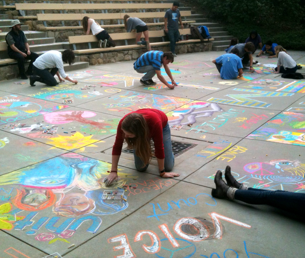 Dr. King Celebration at the Thacher School CHALK4PEACE 1-23-13