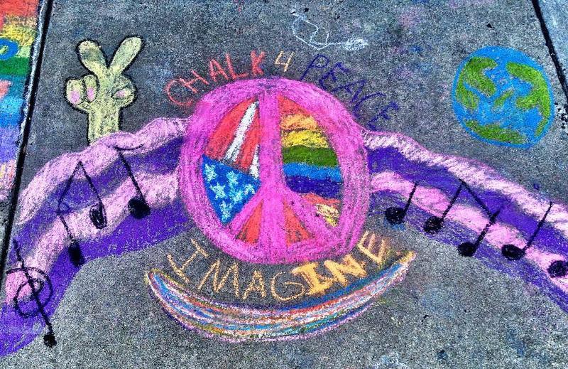 Groveton E. S. CHALK4PEACE 2013  Photos: Marielle Mariano, Nikki Bove' Oditt, Ant Noel, Markeen Sutter