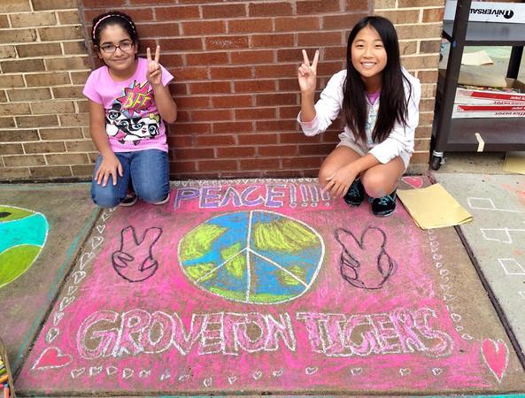 CHALK4PEACE '14 Groveton E.S.- 7th Year!