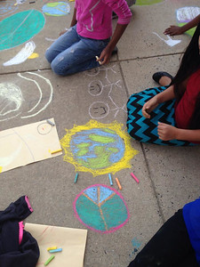 CHALK4PEACE '14 Groveton Elementary School Alexandria, VA  9/19/14  photo: Marielle Mariano