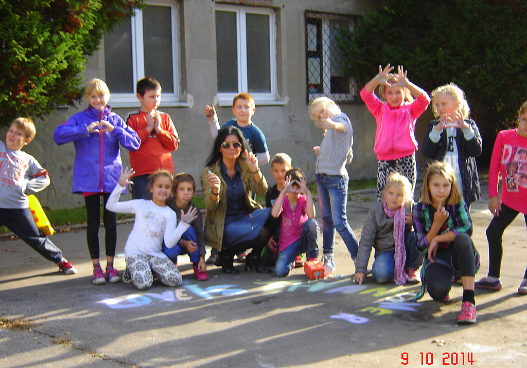 CHALK4PEACE '14 PS 139, Lodz, Poland 