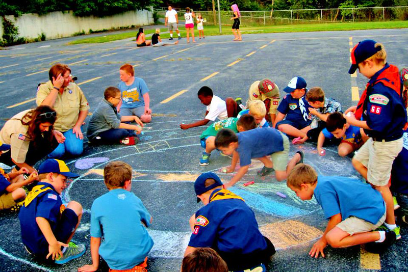 CHALK4PEACE 2014 Boy Scouts of America Pack 66 St. Joseph's Parish, Martinsburg, WV 9/9/14