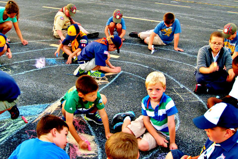 CHALK4PEACE 2014 Boy Scouts of America Pack 66 St. Joseph's Parish, Martinsburg, WV 9/9/14