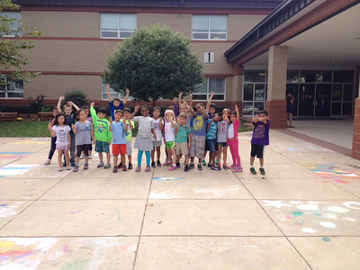 CHALK4PEACE '14  Eagle View Elementary School, Fairfax, VA  photo: Jessica Chinn