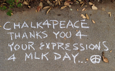 Thacher School, Ojai, CA    Dr. MLK Jr. Day Celebration 2014  CHALK4PEACE  photo: John Aaron