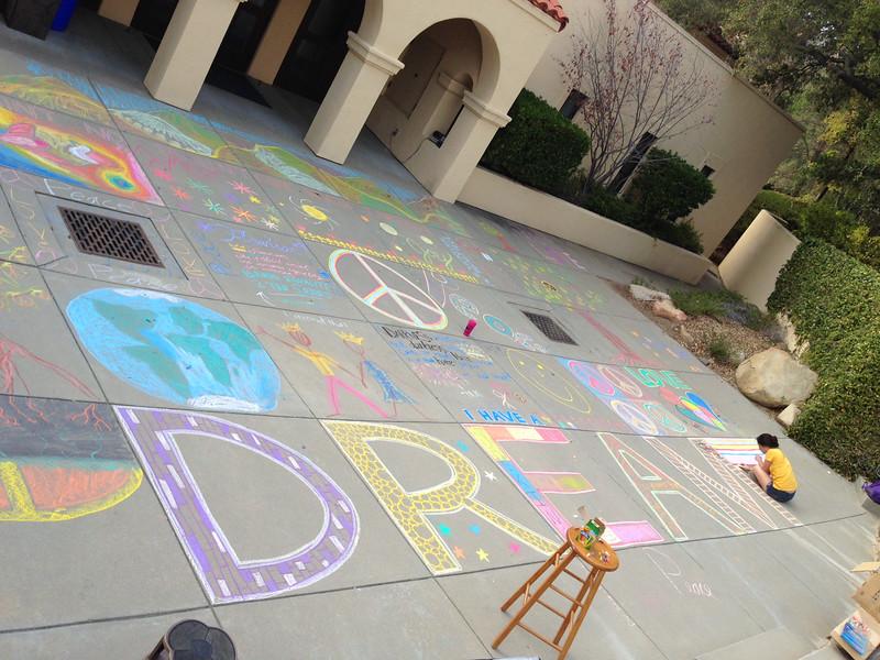 Thacher School, Ojai, CA    Dr. MLK Jr. Day Celebration 2014  CHALK4PEACE  photo: John Aaron
