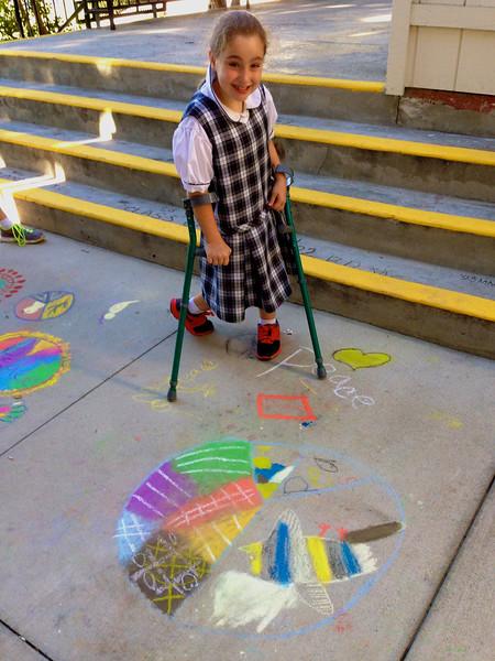 CHALK4PEACE '14 The Gooden School  Sierra Madre, CA  photo: John Aaron