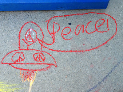 CHALK4PEACE '14 The Gooden School  Sierra Madre, CA  photo: John Aaron