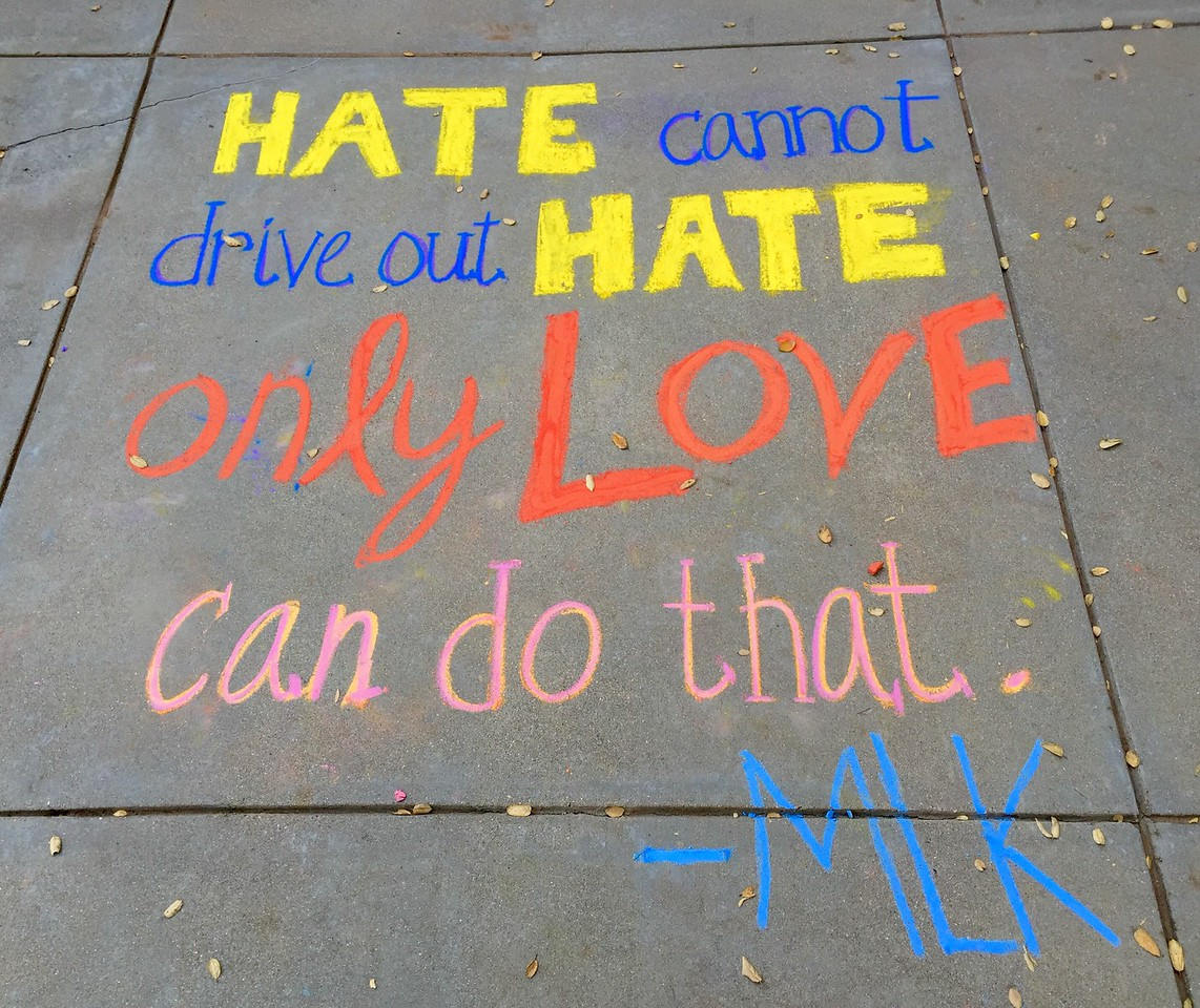 CHALK4PEACE Thacher School Dr. Martin Luther King, Jr. Day Celebration Jan 18, 2015