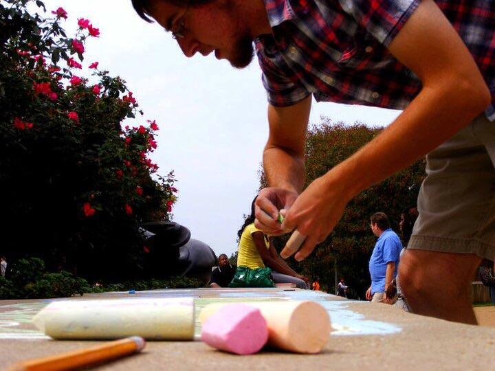 CHALK4PEACE St. Louis Community College  at Florissant Valley, Ferguson, MO photo: