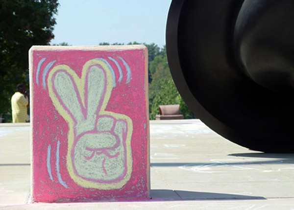 CHALK4PEACE-Drawing FergUSon Together: St. Louis Community College, Florissant Valley