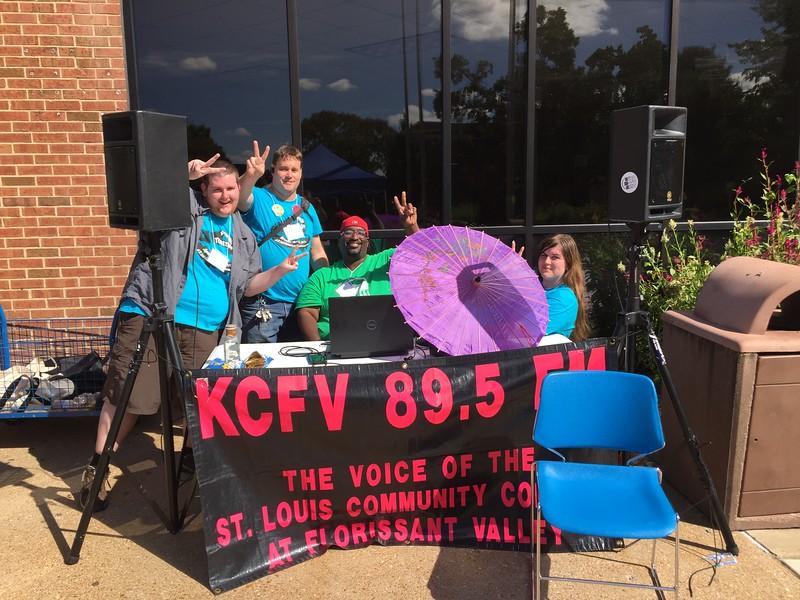 KCFV Crew Drawing FergUSon Together: A Vision of Peace; Sept. 18-19, 2015 Social Justice Summit and Community CHALK4PEACE Celebration   St. Louis Community College, Florissant Valley Ferguson, Missouri