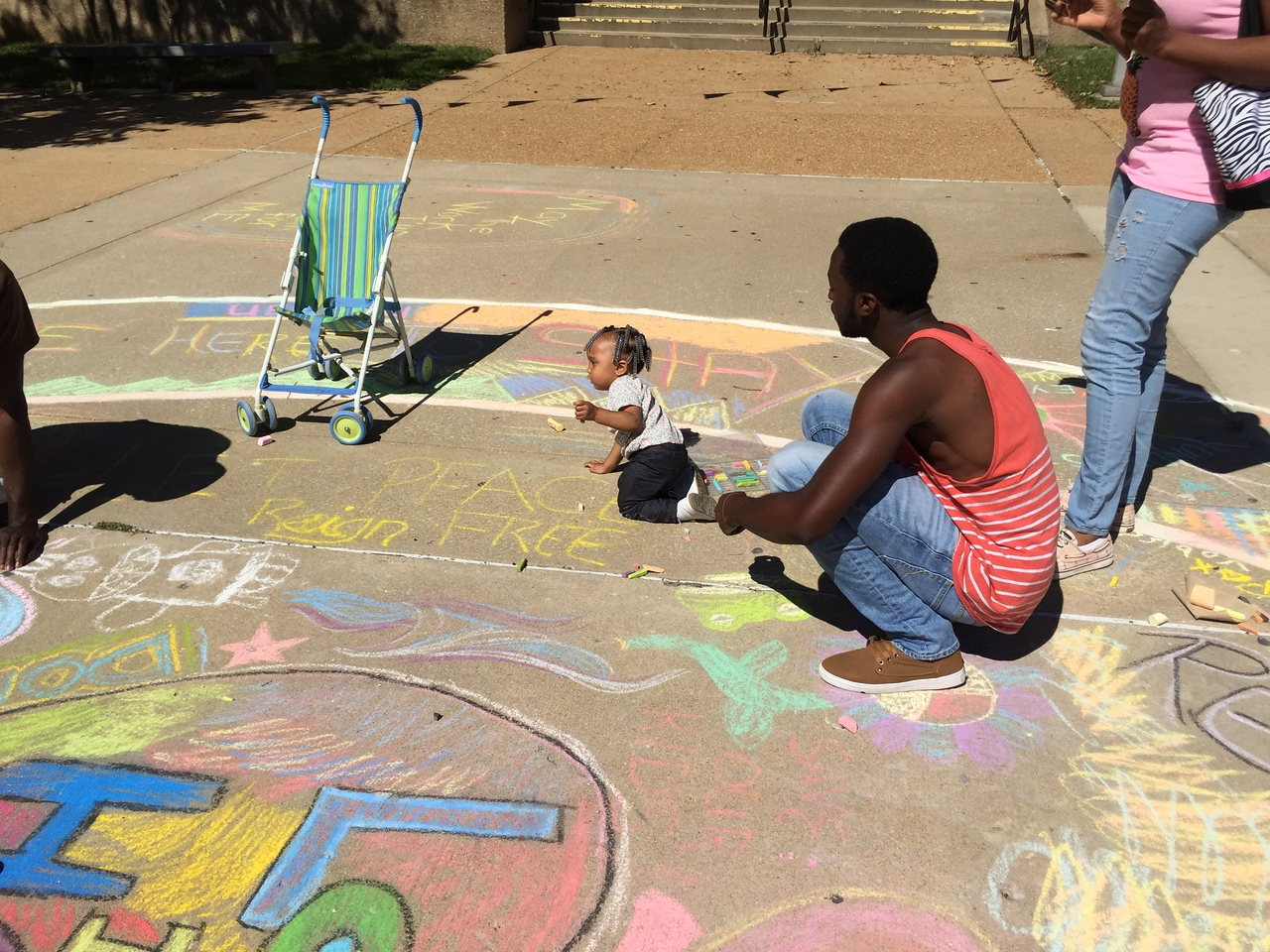 Drawing FergUSon Together: A Vision of Peace; Sept. 18-19, 2015 Social Justice Summit and Community CHALK4PEACE Celebration   St. Louis Community College, Florissant Valley Ferguson, Missouri