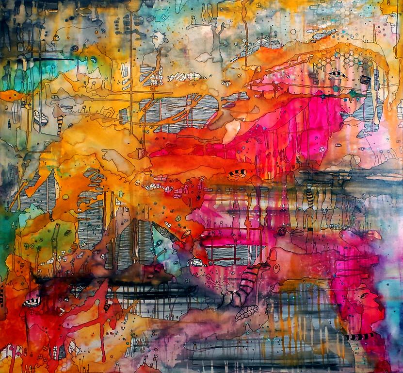 "Chaotic Bliss 30x40x2.5"" mixed media on gallery wrap canvas. <br /> <br />  <a href=""http://ccambrea.com"">http://ccambrea.com</a>"