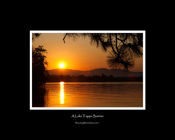 Ready for your 16x20 frame.  Sunrise over Lake Tapps - Fall 2011.  Lake Tapps is located in Western Washington.