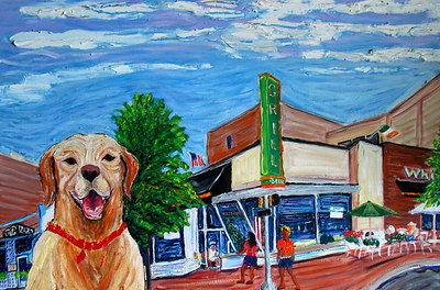 """Waiting for a Burger at Whitlow's"" (2005) Oil on canvas Private commission, Arlington, VA"