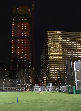Soccer at Night in Manhattan, New York 12/16