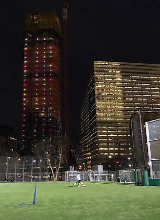Soccer at Night in Manhattan, New York 12/16