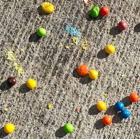 Crushed Skittles Morning After
