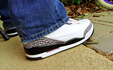 I can't remember the last time I wore a pair of Air Jordan 3 shoes. These look way better in person.