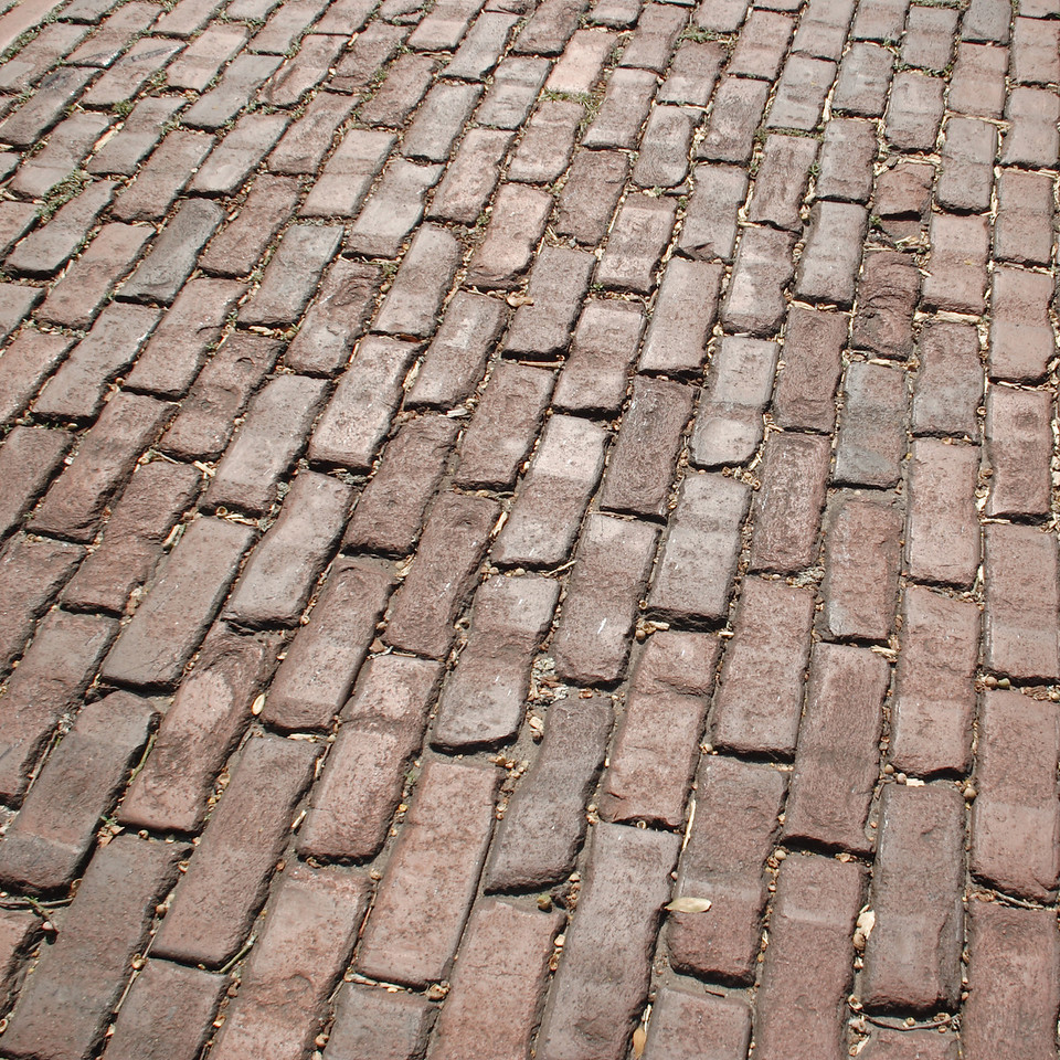 Savannah is a city of rich and aged textures and surfaces, full of history and full of stories.  As the saying sort of goes, if these bricks could talk...© Shams Tarek (www.shamstarek.com)