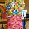 """""""Gumball Machine"""" by engineering design firm Moffatt and Nichol. It contains 1,800 cans. Special thanks to Walker Foods for their donation."""
