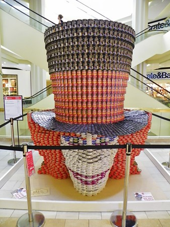 """""""Fighting Hunger Madders"""" - Withee Malcolm Architects, LLP<br /> 6,000 cans"""